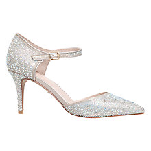 Buy Carvela Ginny Two Part Court Shoes, Gold Online at johnlewis.com