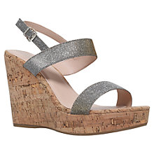 Buy Carvela Kay High Wedge Heeled Sandals, Pewter Online at johnlewis.com
