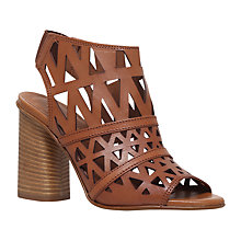Buy Carvela Kupid Geometric Block Heeled Sandals, Tan Leather Online at johnlewis.com