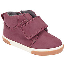 Buy John Lewis Children's Hattie Riptape Shoes, Burgundy Online at johnlewis.com