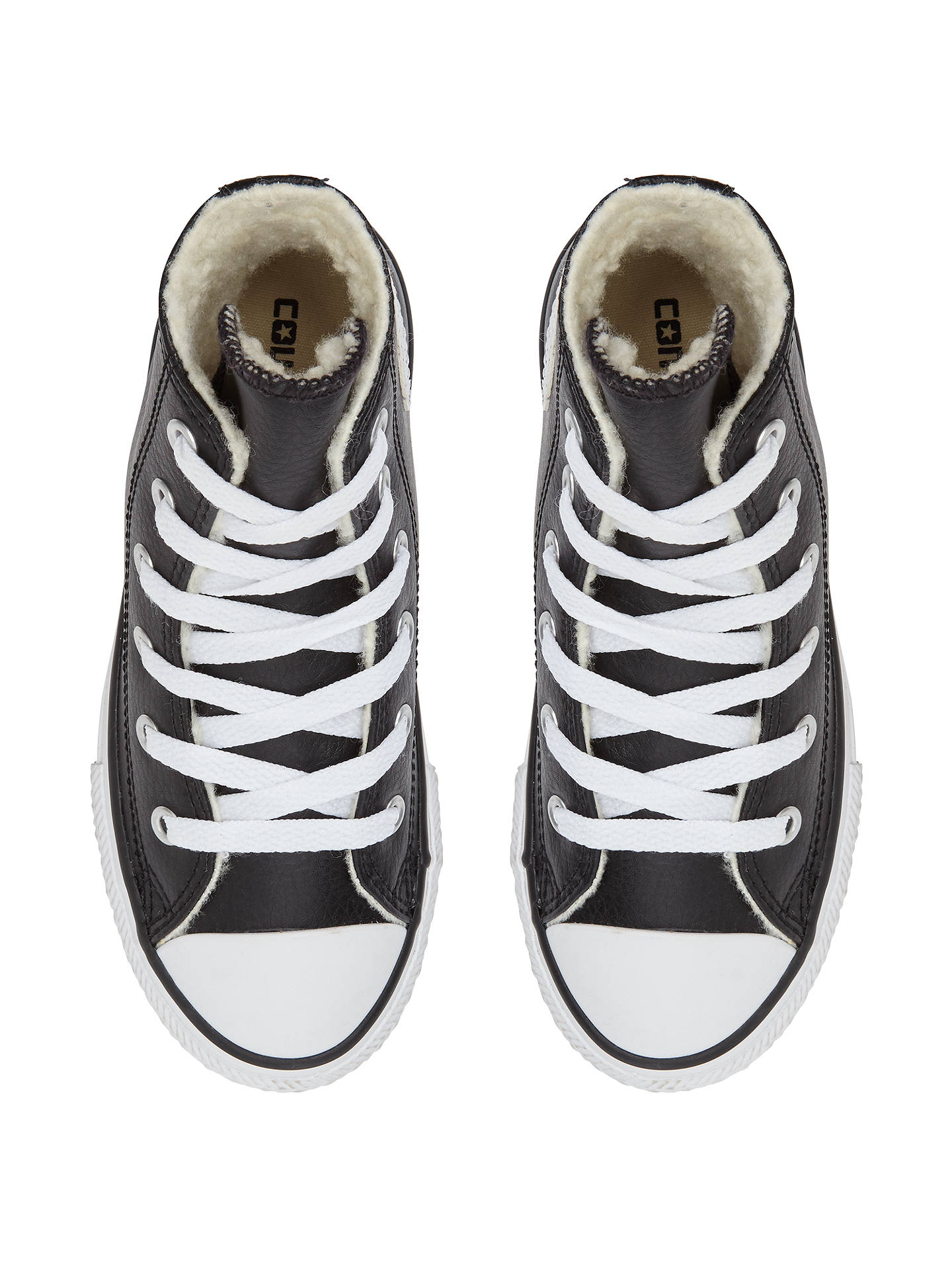 Converse Children S Chuck Taylor All Star Faux Fur Lined Trainers Black At John Lewis Partners