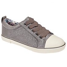 Buy John Lewis Children's Paige Anthracite Lace Shoes, Anthracite Online at johnlewis.com