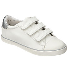 Buy John Lewis Children's Triple Riptape Trainers, White Online at johnlewis.com