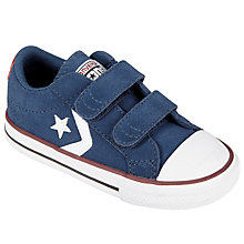 Buy Converse Children's Star Player 2V Shoes, Navy/White Online at johnlewis.com