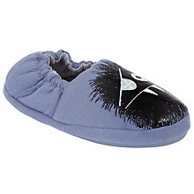 Buy John Lewis Children's Glow In The Dark Closed Back Monster Slippers, Blue Online at johnlewis.com
