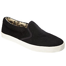 Buy John Lewis Children's Phoebe Slip On Shoes, Black Online at johnlewis.com