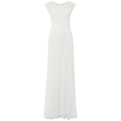 Raishma Net Embellished Gown, White