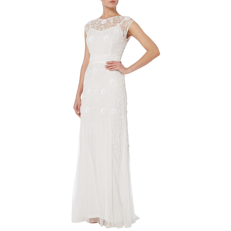 Raishma Net Embellished Gown, White At John Lewis