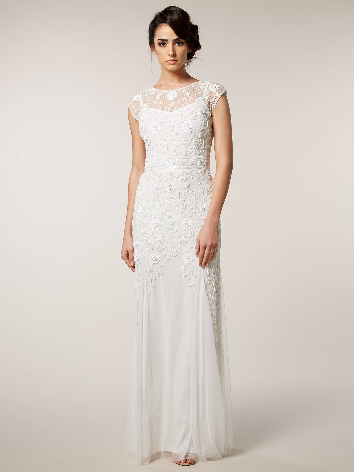 BuyRaishma Net Embellished Gown, White, 8 Online at johnlewis.com