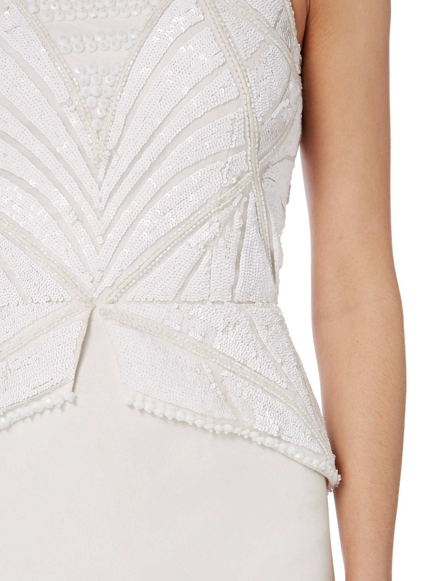 94ff4965d373 ... Buy Raishma Peplum Gown, White, 8 Online at johnlewis.com ...