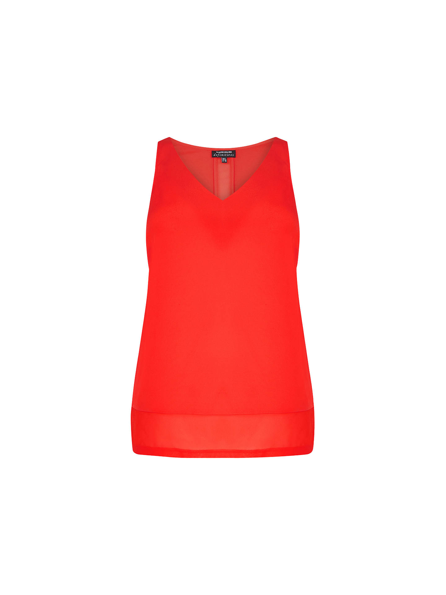 a5f16a33e64 Warehouse Chiffon Detail Vest Top at John Lewis   Partners