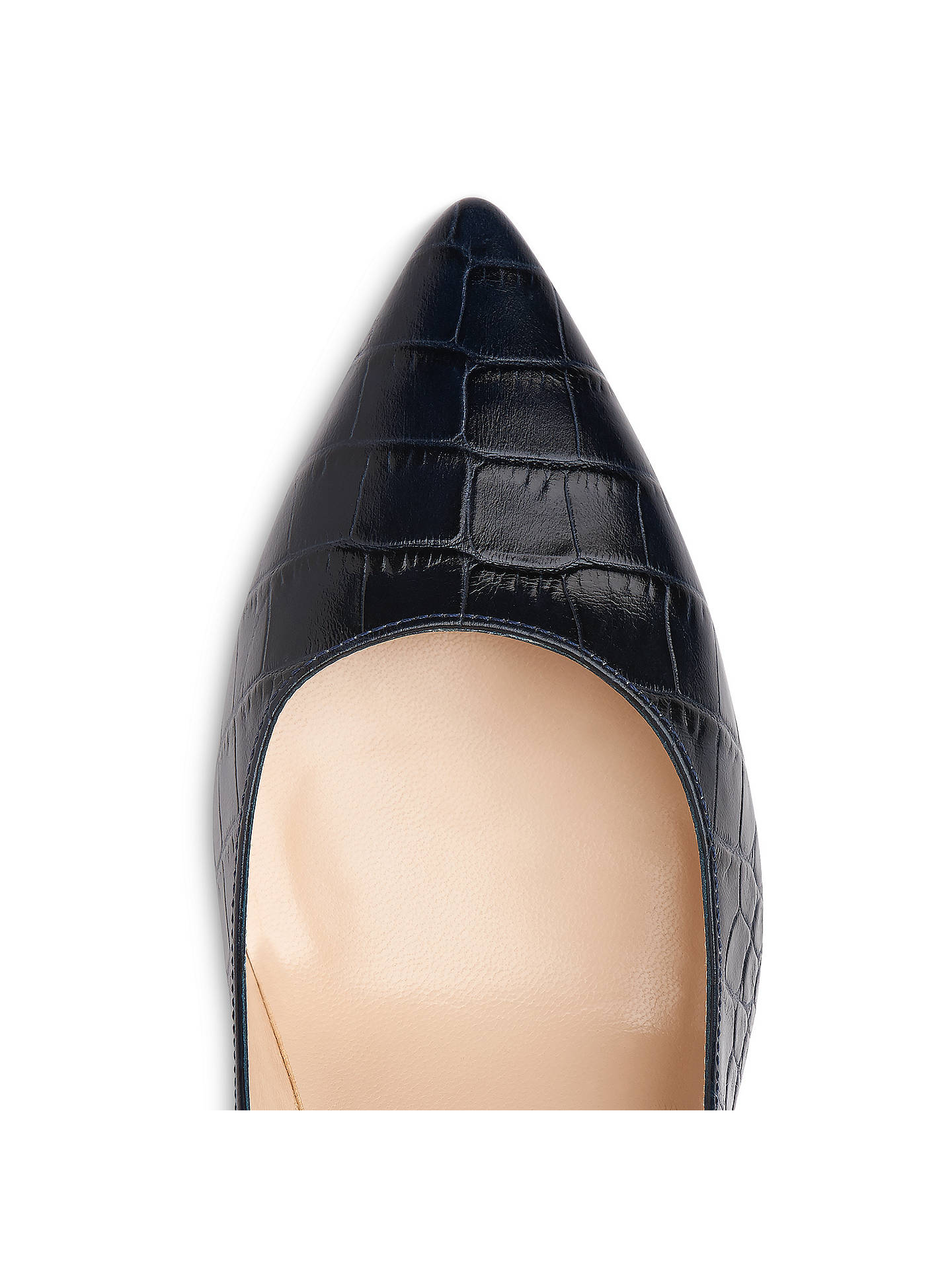 4fbe5adf18 ... Buy L.K. Bennett Tess Block Heeled Court Shoes, Blue Croc, 2 Online at  johnlewis ...