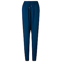 Buy L.K. Bennett Saffy Denim Look Trousers, Blue Online at johnlewis.com