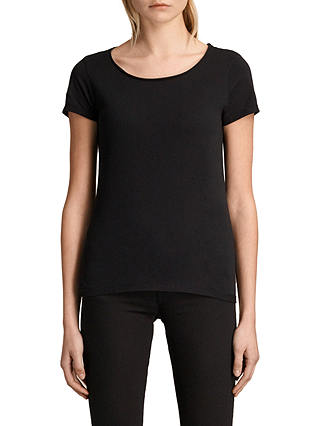 Buy AllSaints Vetten T-Shirt, Black, XS Online at johnlewis.com