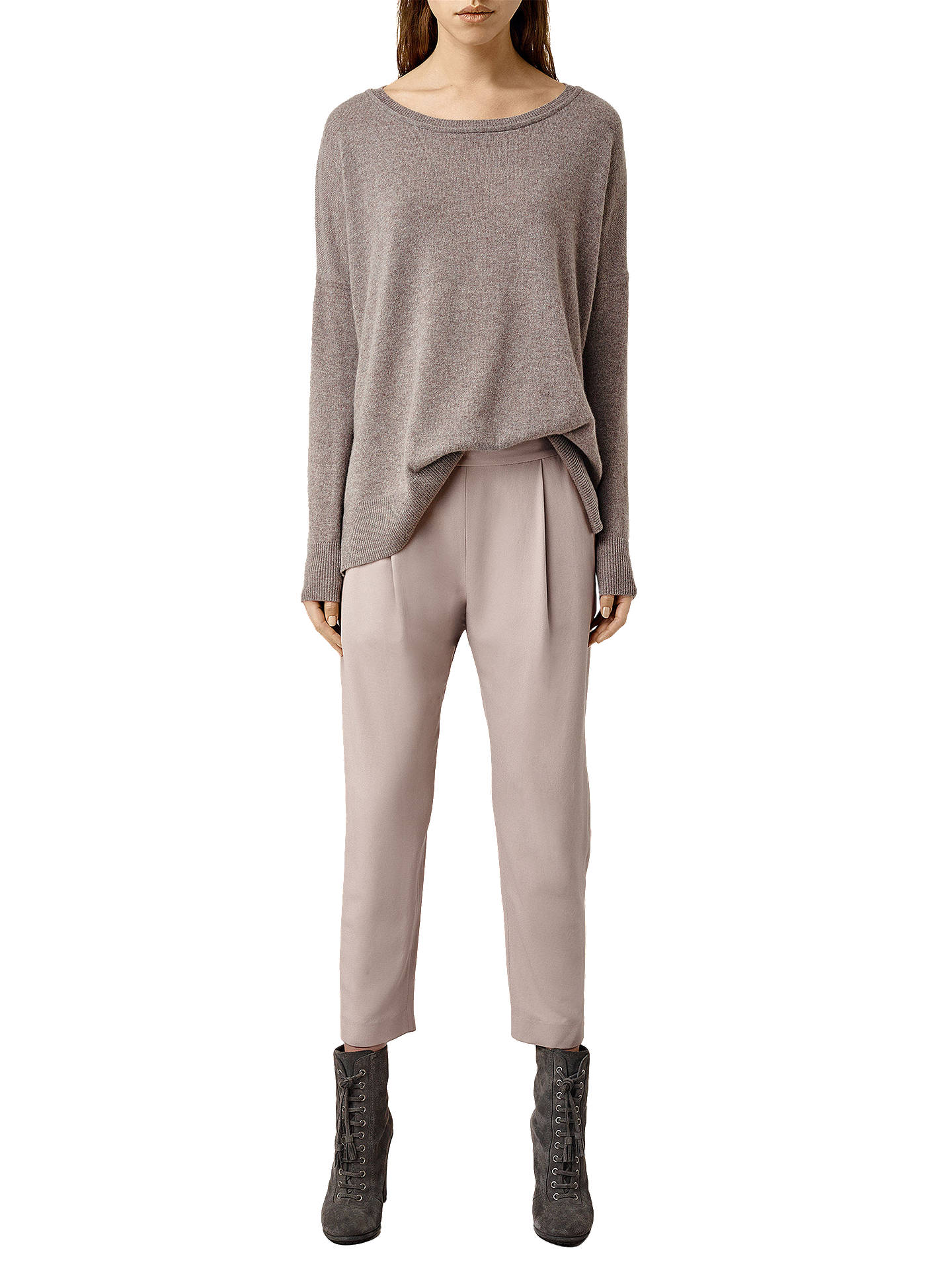 41dfd420d596a AllSaints Aleida Trousers, Dusty Pink at John Lewis & Partners