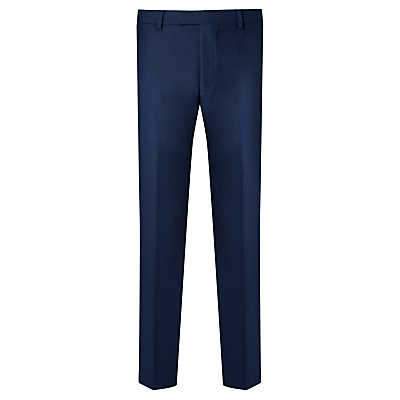 Daniel Hechter Flannel Tailored Suit Trousers, Blue
