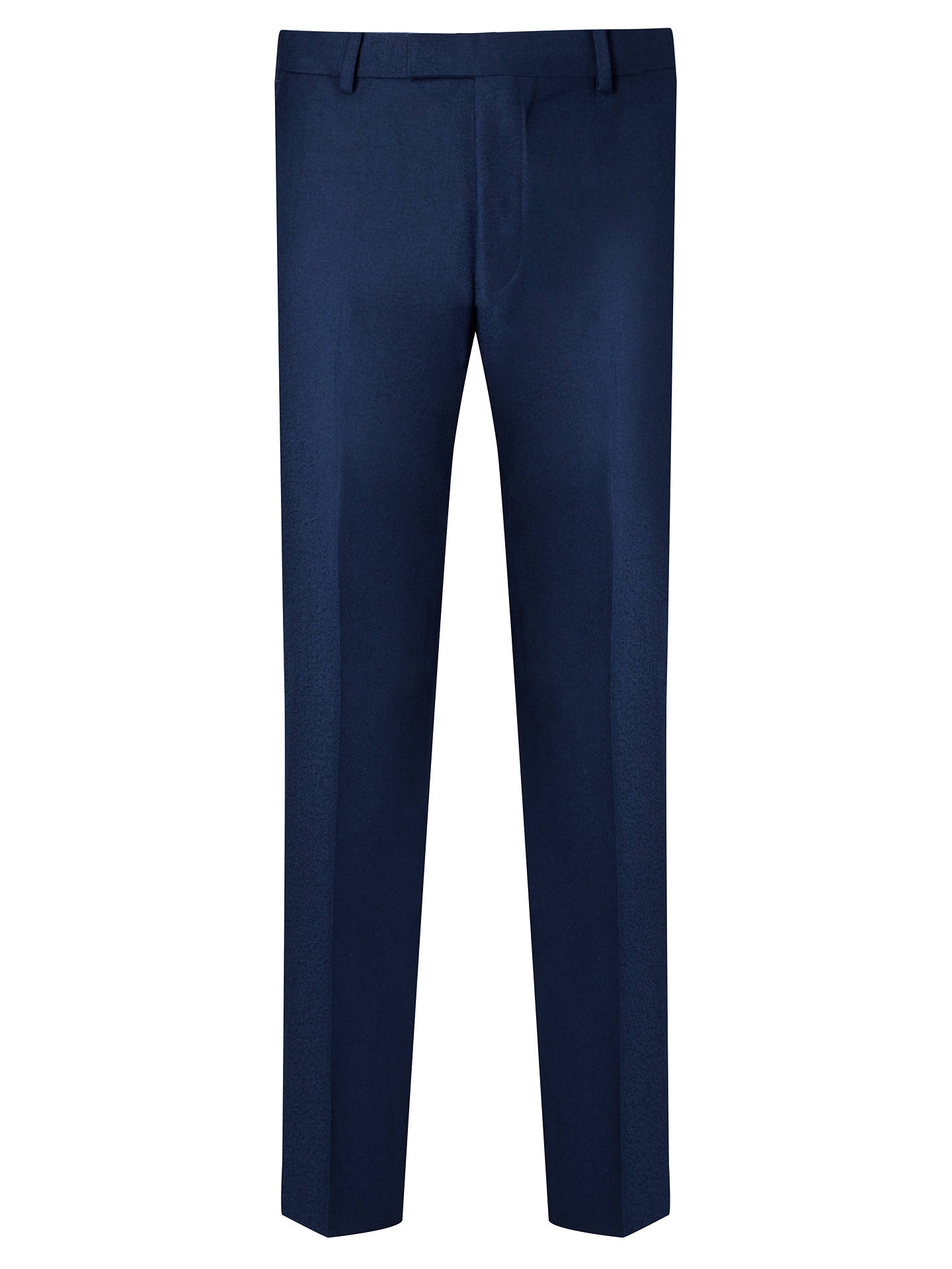 new product 90b7d c4e14 Daniel Hechter Flannel Tailored Suit Trousers, Blue at John ...