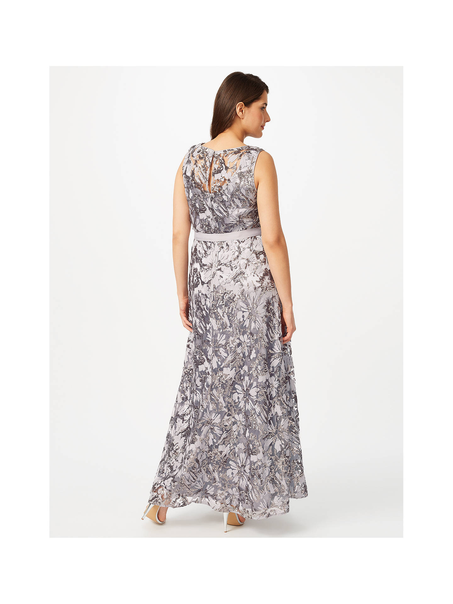 BuyStudio 8 Mercury Maxi Dress, Silver, 16 Online at johnlewis.com