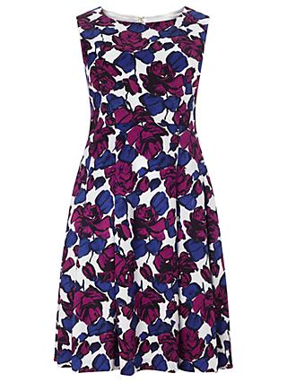 Studio 8 Dina Print Dress, Blue/Purple
