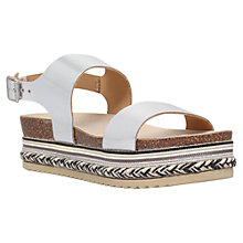 Buy Carvela Kitten Flatform Sandals, Silver Online at johnlewis.com
