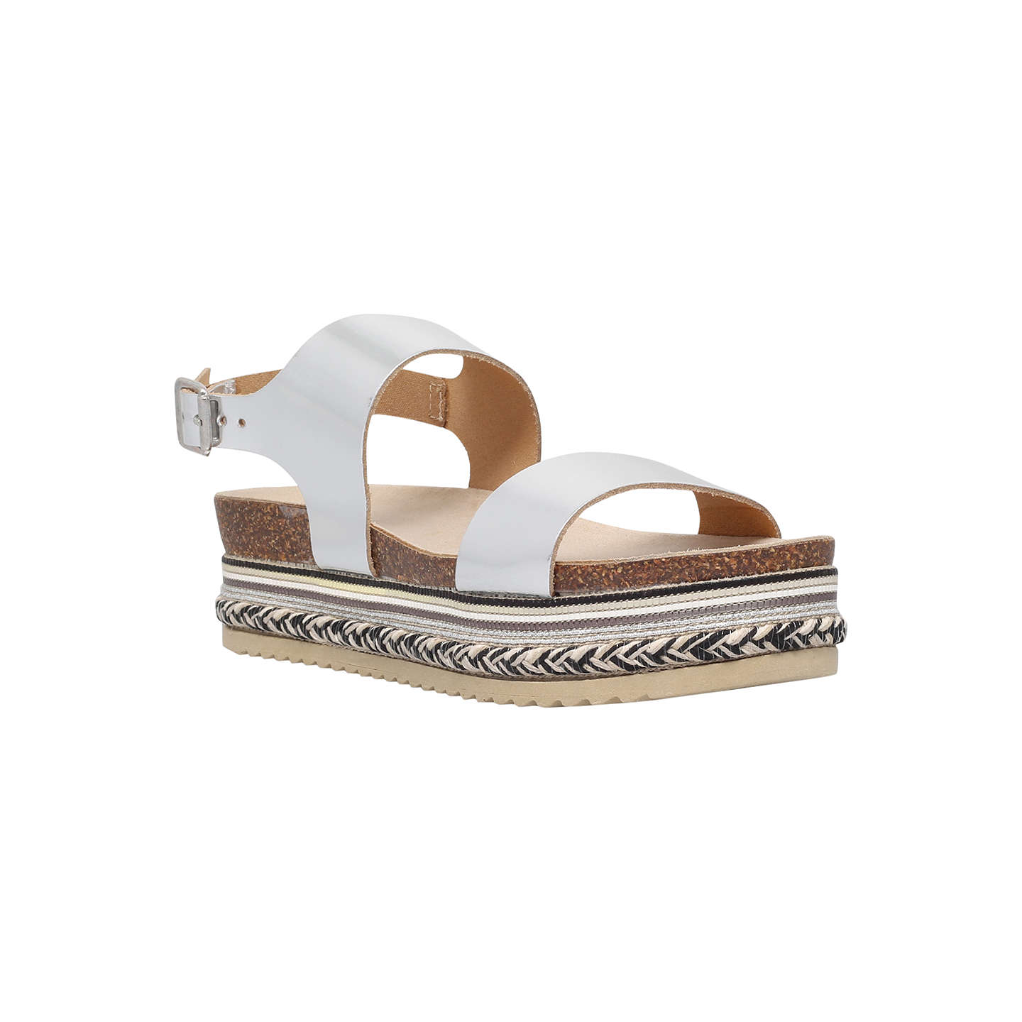 CARVELA Kitten leather sandals Silver - Q5832