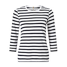 Buy John Lewis Zip Back Stripe Top Online at johnlewis.com