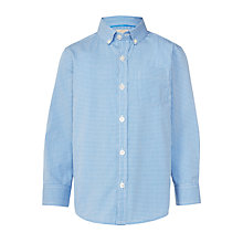 Buy John Lewis Heirloom Collection Boys' Gingham Check Shirt, Blue Online at johnlewis.com