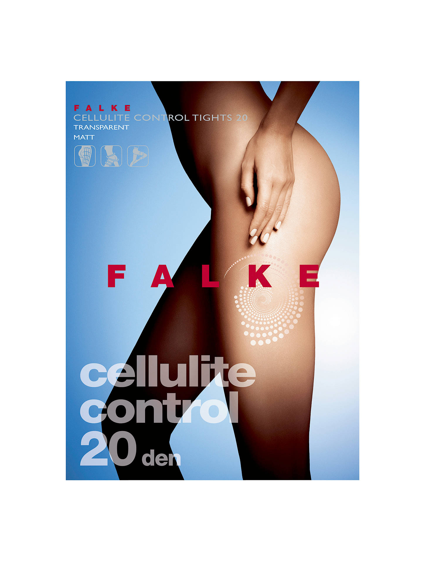 195479fbf8023 Buy FALKE 20 Denier Cellulite Control Tights, Cocoon, S Online at  johnlewis.com ...