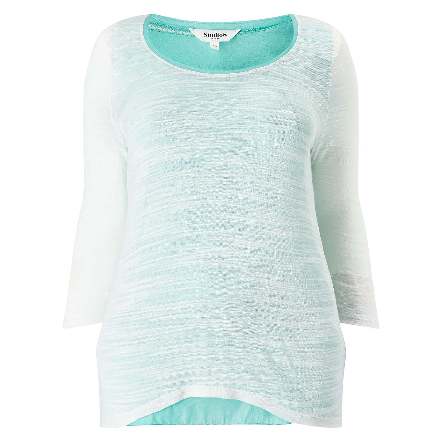 BuyStudio 8 Milly Top, Cream/Aqua, 14 Online at johnlewis.com