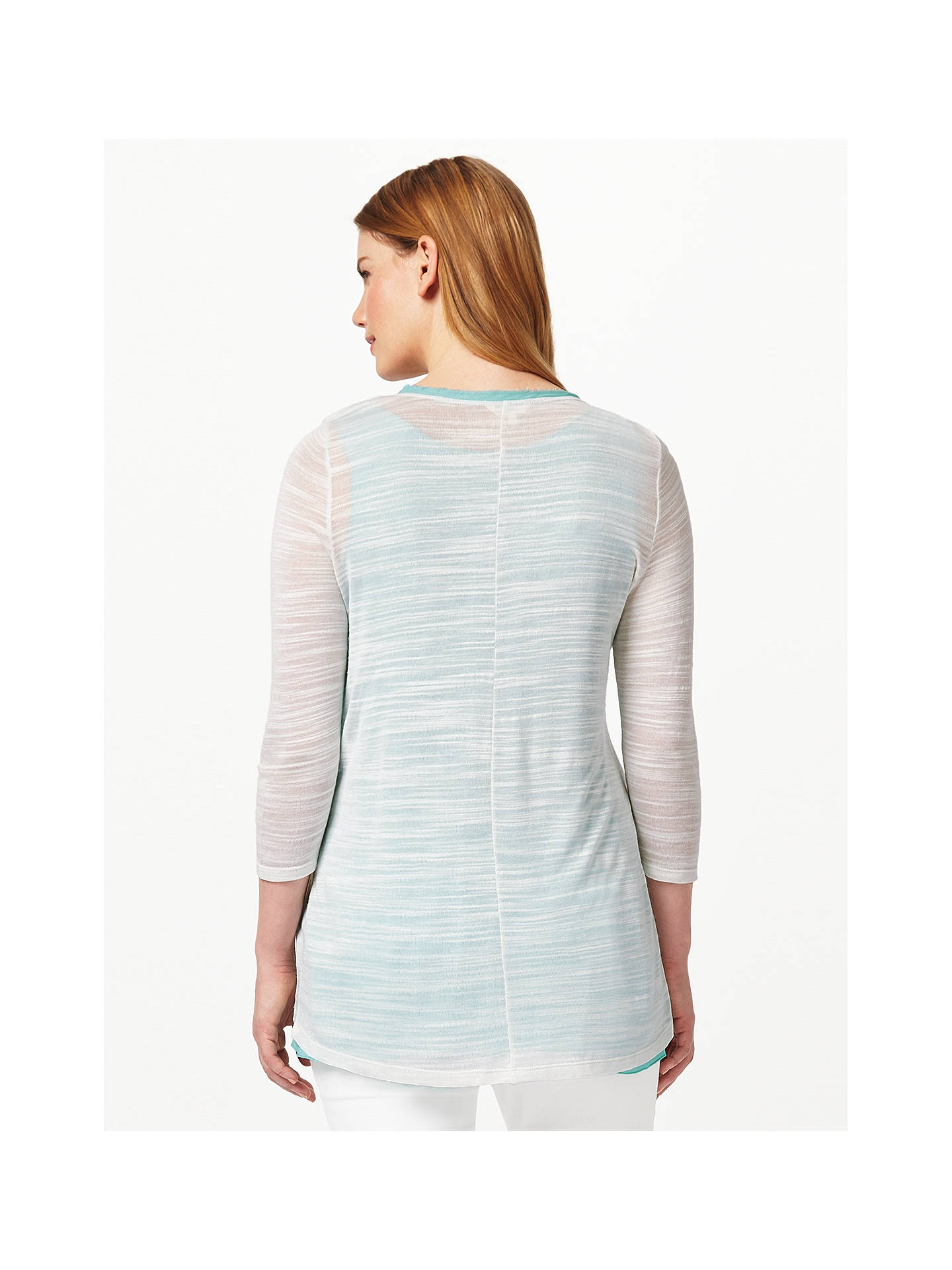 BuyStudio 8 Milly Top, Cream/Aqua, 12 Online at johnlewis.com