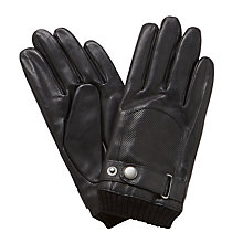 Buy John Lewis Perforated Leather Driving Gloves, Black Online at johnlewis.com