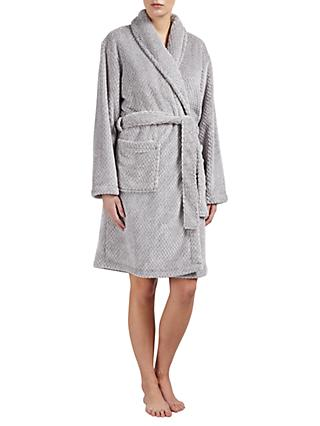 c2ad69d220c John Lewis   Partners Shawl Collar Waffle Fleece Robe