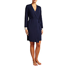 Buy John Lewis Alicia Jersey Robe, Navy Online at johnlewis.com