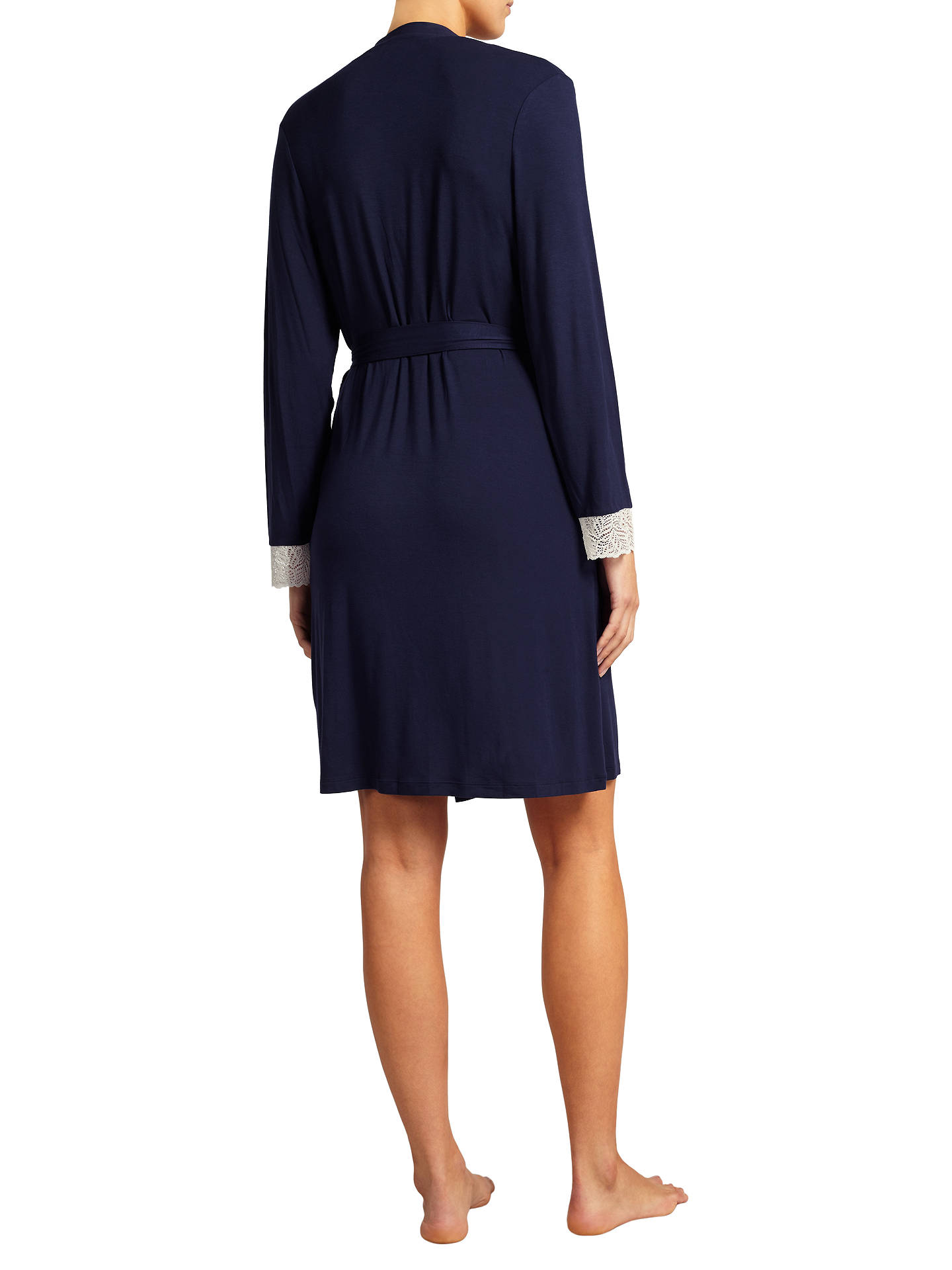 BuyJohn Lewis & Partners Alicia Jersey Robe, Navy, S Online at johnlewis.com