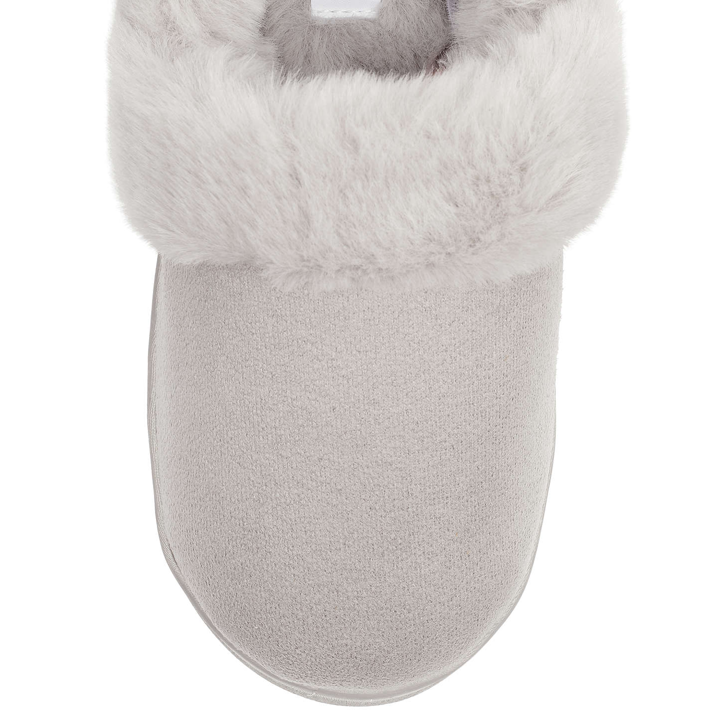 BuyJohn Lewis Comfort Cuff Slippers, Marl Grey, 3-4 Online at johnlewis.com
