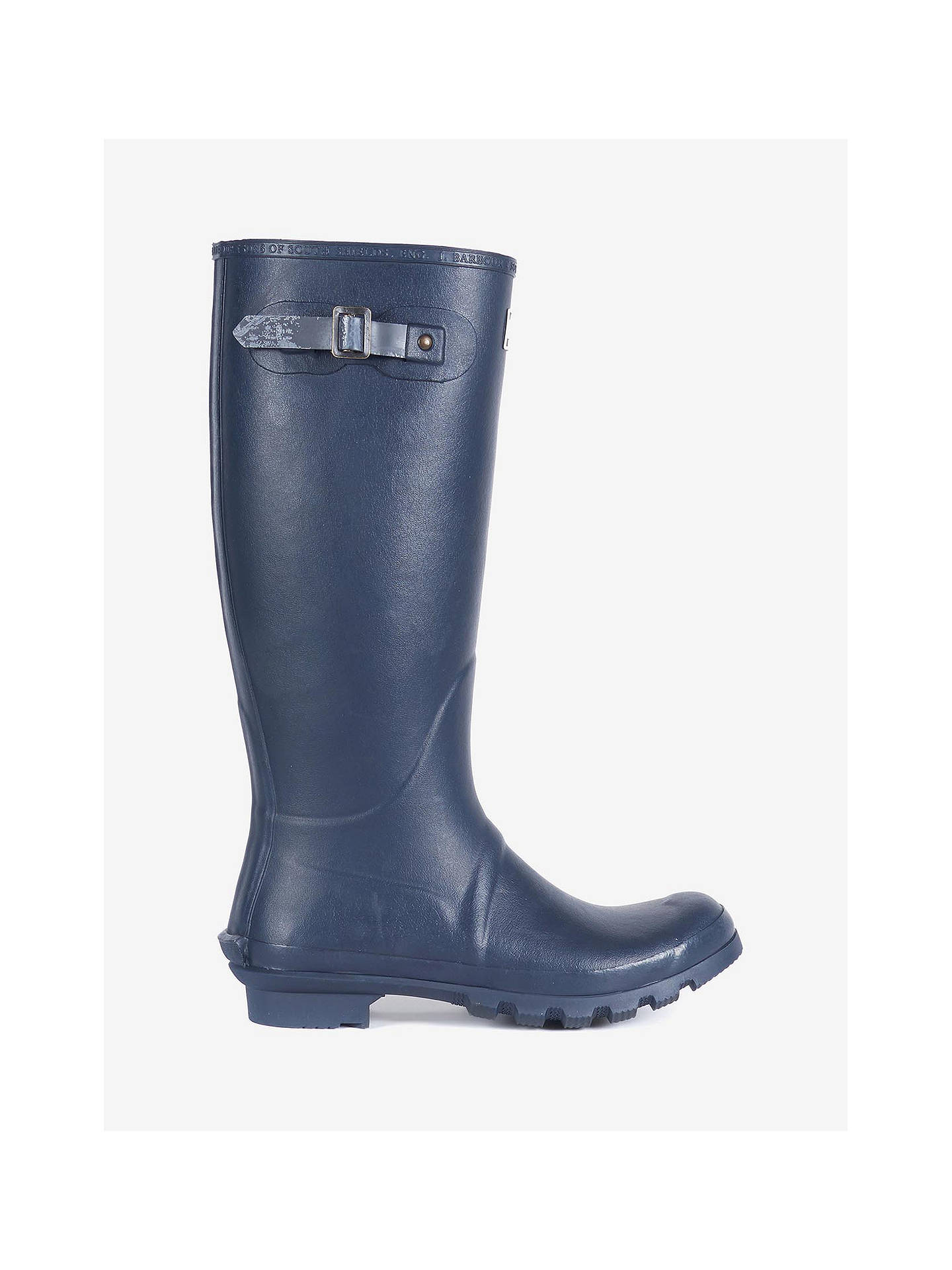 BuyBarbour Bede Waterproof Wellington Boots, Navy, 7 Online at johnlewis.com