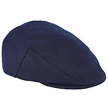 Buy John Lewis Melton Wool Flat Cap, Blue Online at johnlewis.com