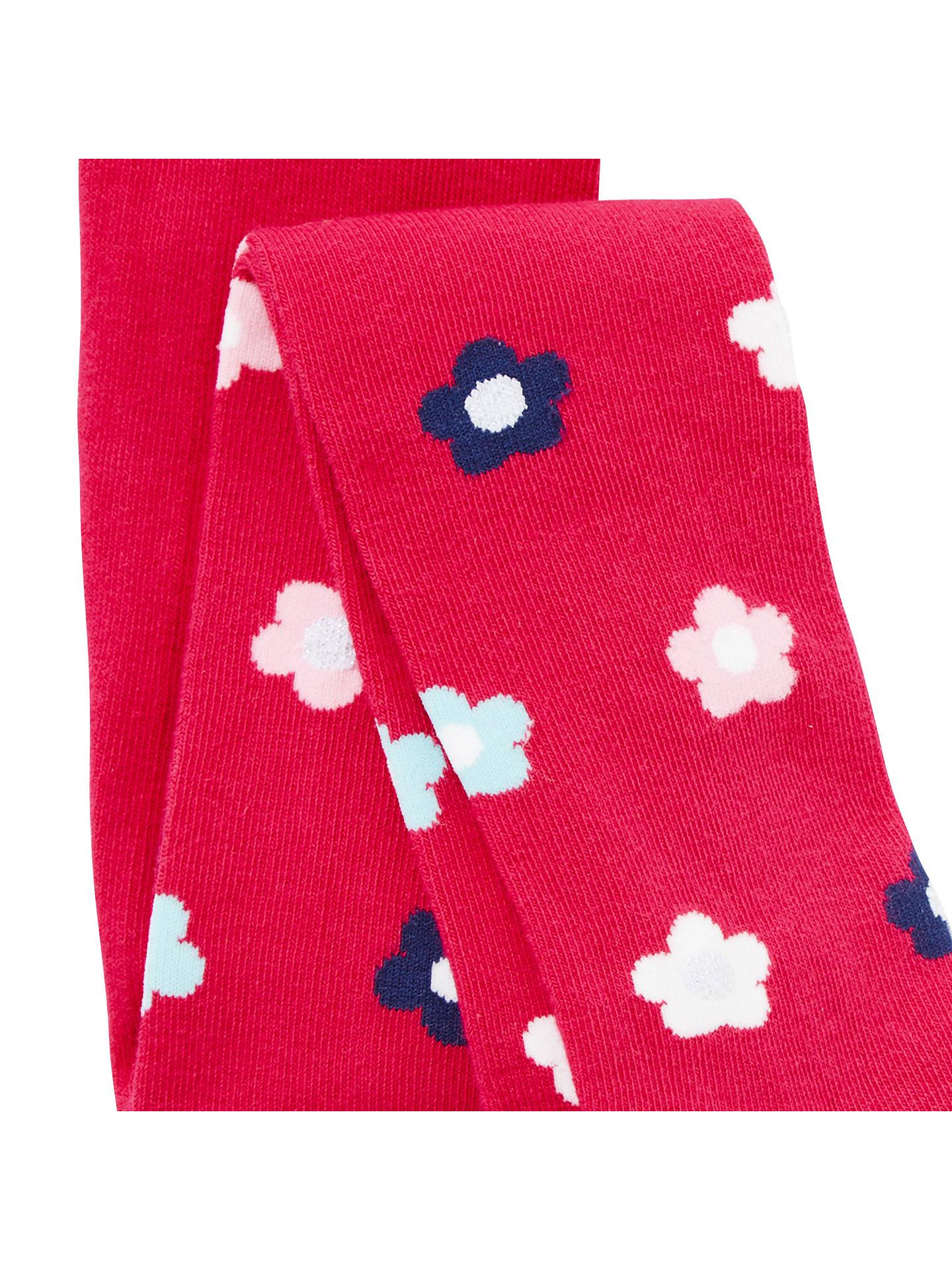 John Lewis /& Partners filles Bold Floral Collants Pack de 3 Age 3-4 ans Nouveau