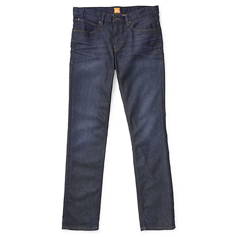 Buy BOSS Orange Orange63 Slim Jeans, Navy Online at johnlewis.com