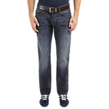 Buy BOSS Orange Orange25 Regular Straight Jeans, Navy Online at johnlewis.com