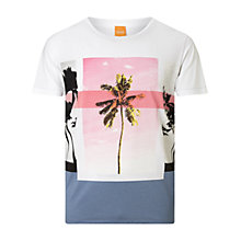 Buy BOSS Orange Towney T-Shirt, White Online at johnlewis.com