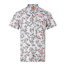 Buy BOSS Orange Ezippoe Shirt, Medium Blue Online at johnlewis.com