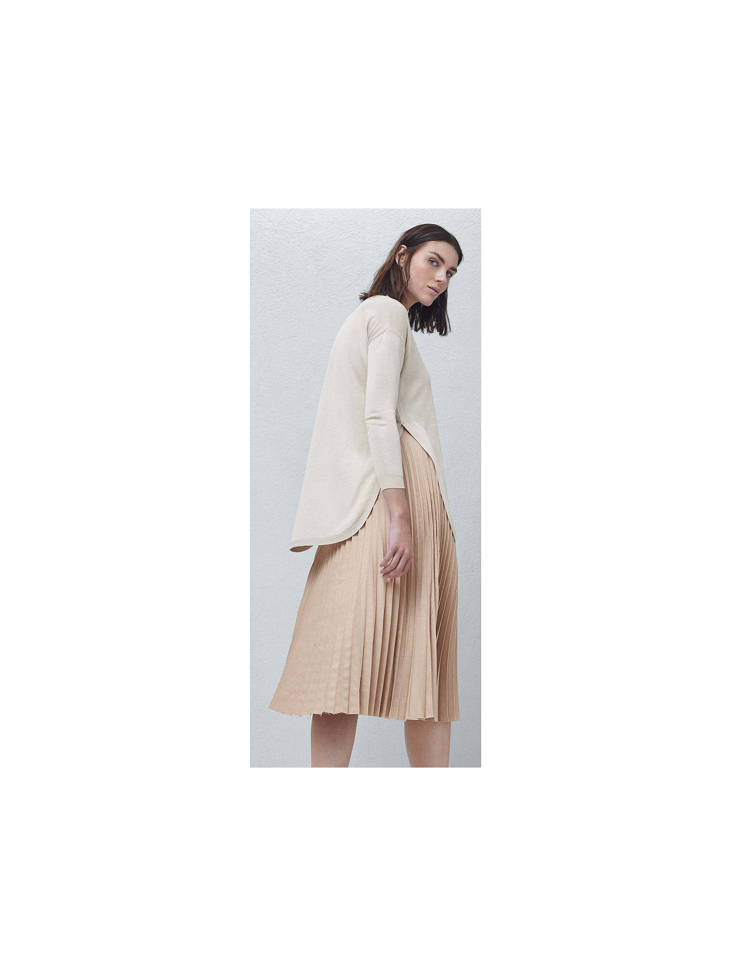 ca7b4415f ... Buy Mango Pleated Midi Skirt, Light Pastel Pink, 6 Online at  johnlewis.com