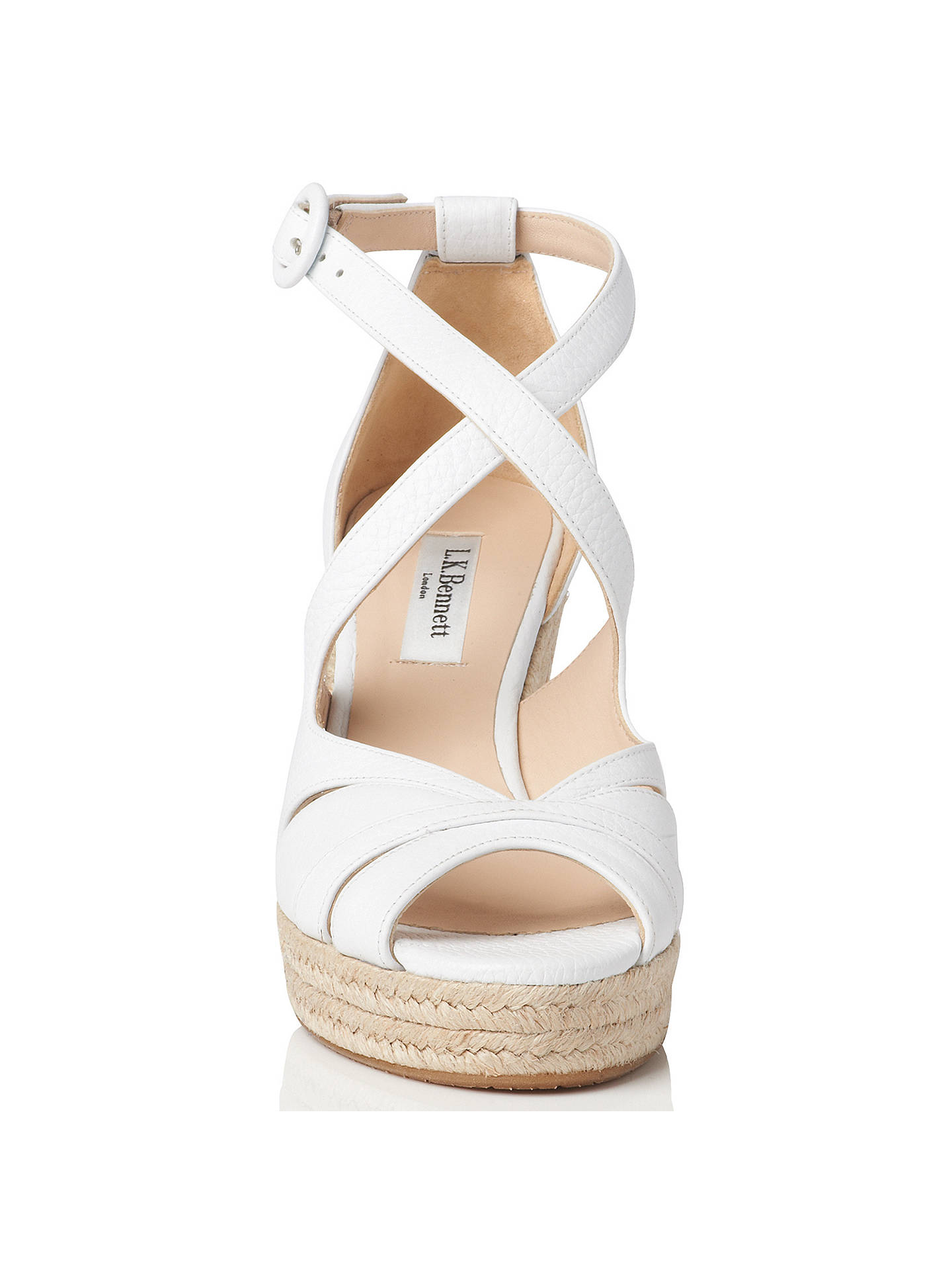 fd69cee358e8 L.K. Bennett Maggie Espadrille Wedge Heeled Sandals at John Lewis ...