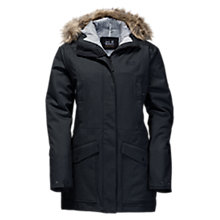 Buy Jack Wolfskin Coastal Range Waterproof Women's Parka Jacket, Black Online at johnlewis.com