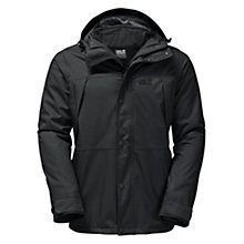Buy Jack Wolfskin Harbour Bay 3 in 1 Waterproof Men's Jacket, Black Online at johnlewis.com