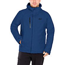 Buy Jack Wolfskin Troposphere Waterproof Men's Jacket, Blue Online at johnlewis.com