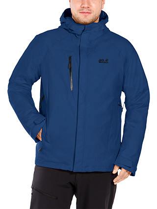 süß Rabatt-Verkauf elegant im Stil Jack Wolfskin Troposphere Waterproof Men's Jacket, Blue at ...