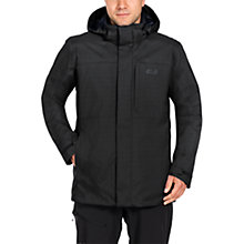 Buy Jack Wolfskin Black Range 3 in 1 Waterproof Men's Jacket, Black Online at johnlewis.com