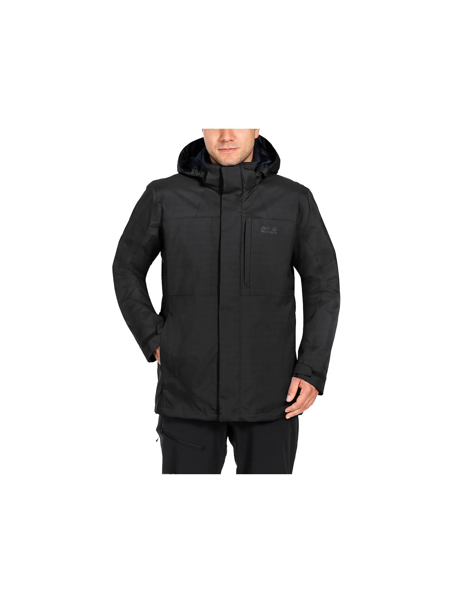 770e0dc40 Jack Wolfskin Black Range 3 in 1 Waterproof Men's Jacket, Black at ...